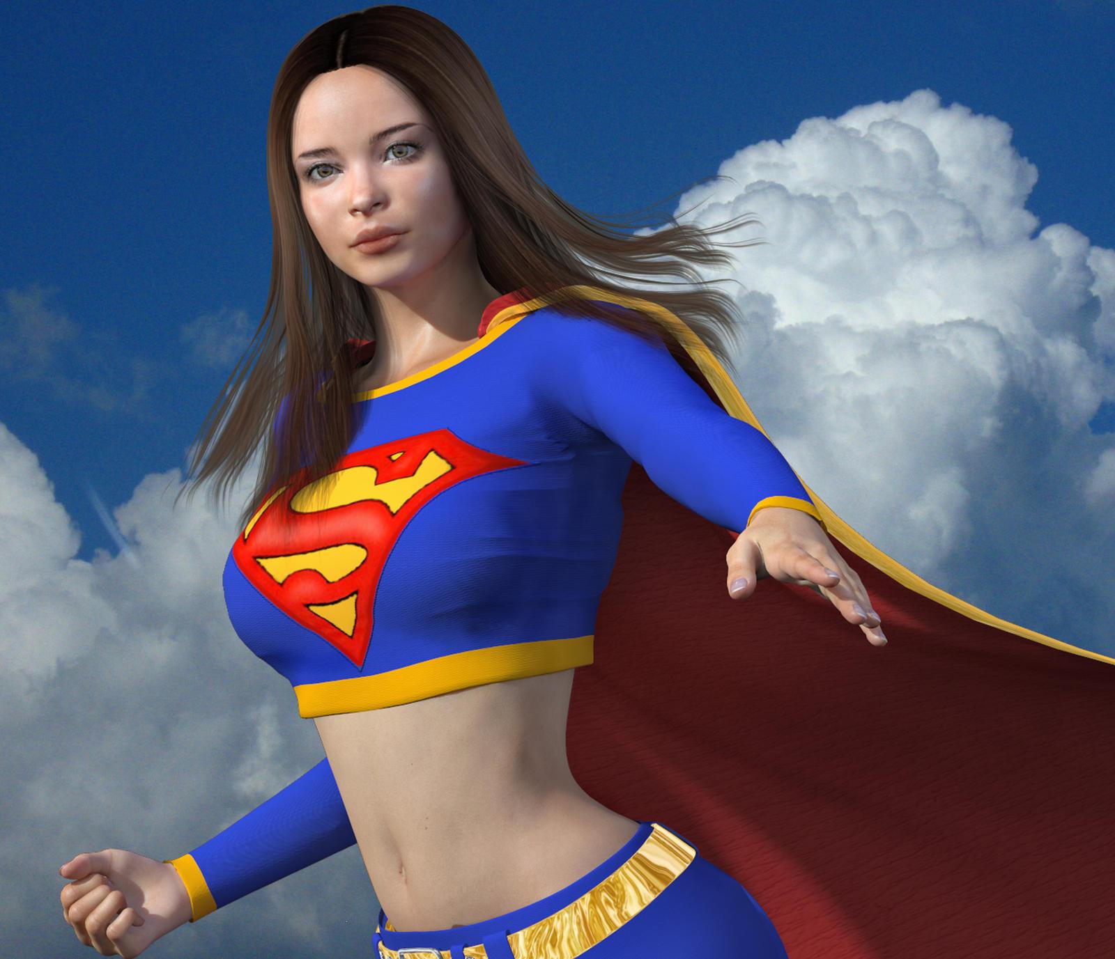 Lana Lang as Supergirl by qaz-art on DeviantArt