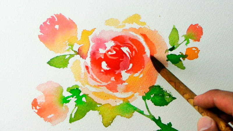 Watercolor painting roses by jayartpainting on deviantart for How to paint a rose in watercolour