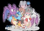 Re Drawn Pokemon Team