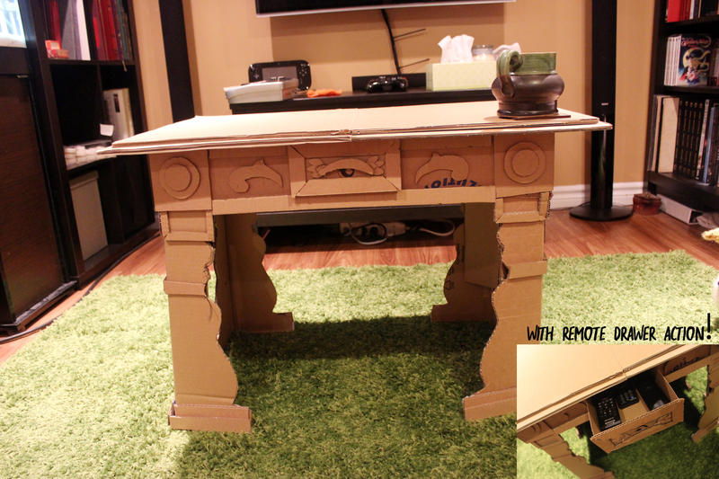 cardboard coffee table by horace bulregard on deviantart