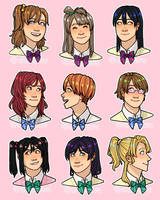 Muse stickers (Love Live!) by Afacuchisi