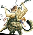 Luffy Kicking Half HA