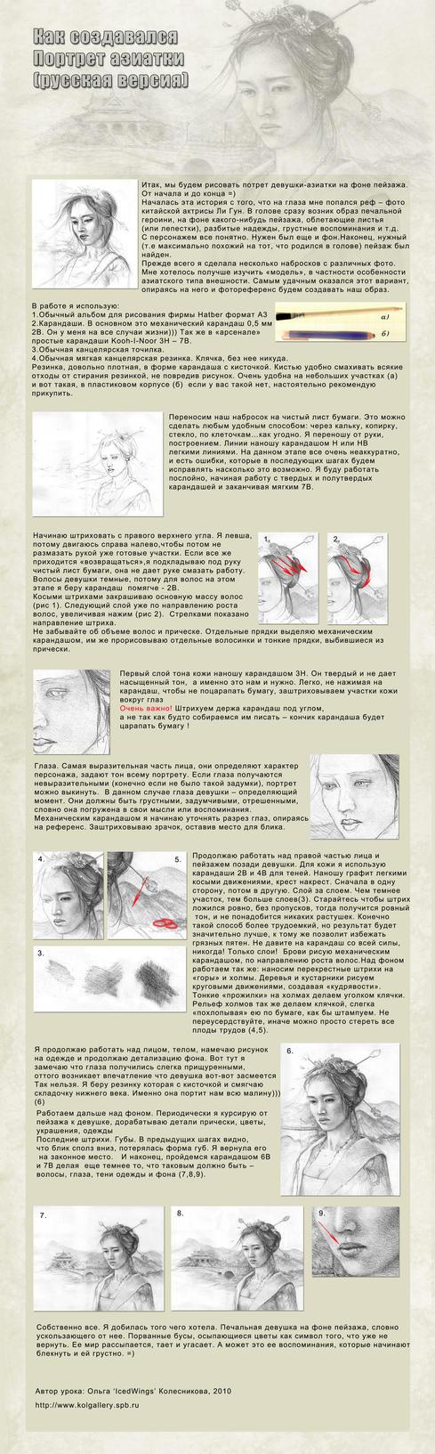 Asian girl tutorial by IcedWingsArt