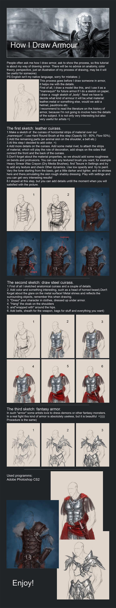 How I Draw Armour by IcedWingsArt