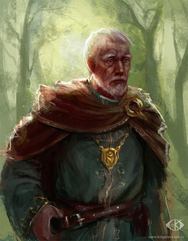 Old man by IcedWingsArt