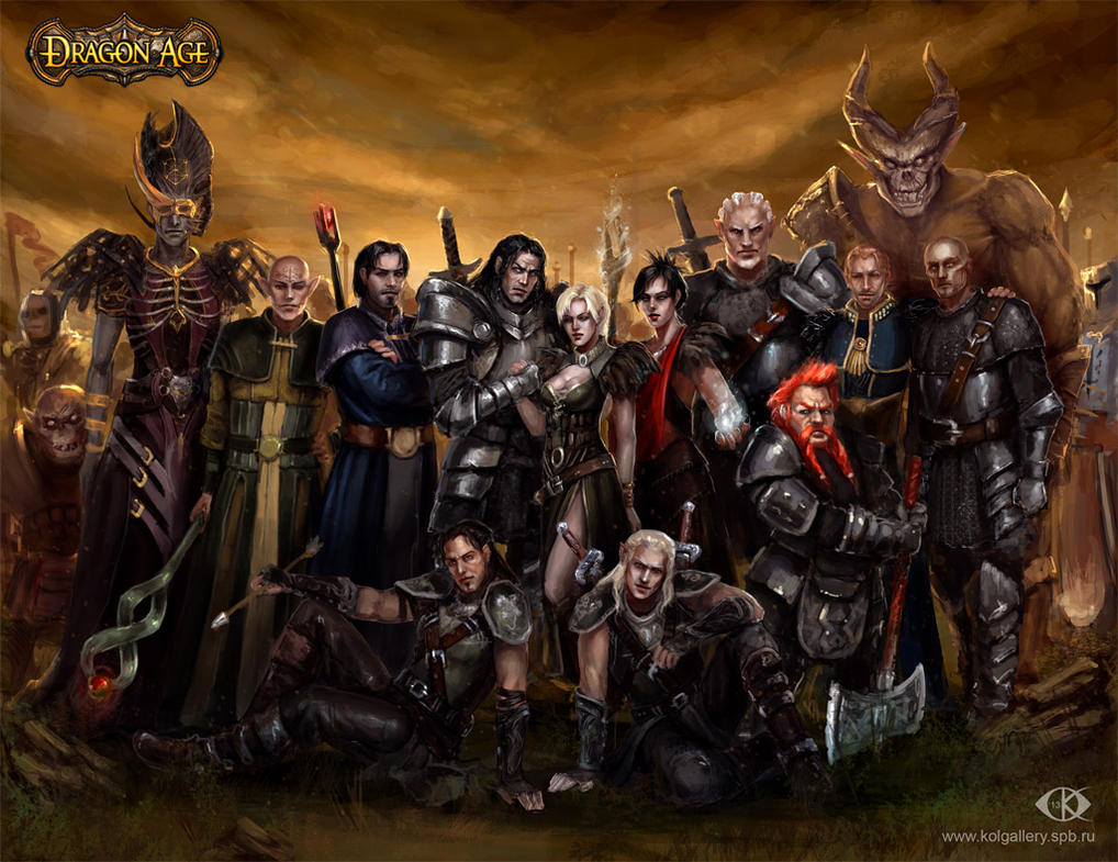 My Dragon Age Commemorative Picture By Icedwingsart On