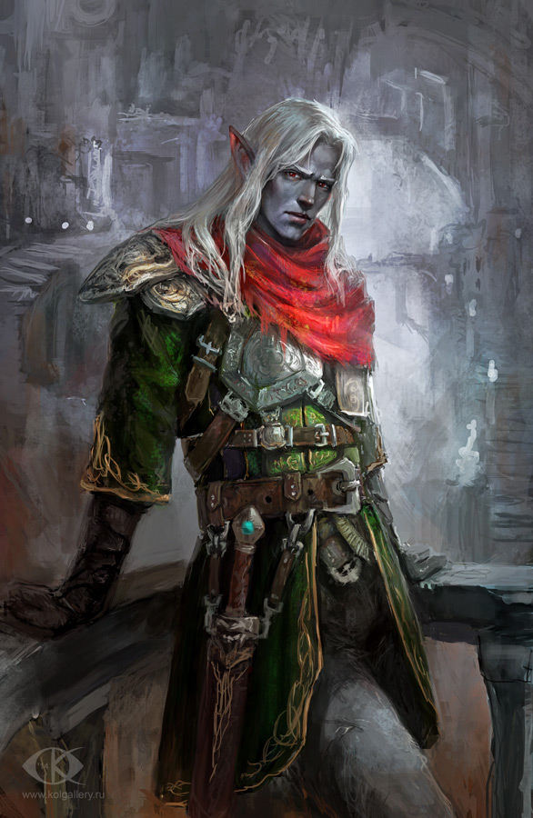Dark Elf by IcedWingsArt