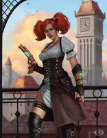 Steampunk Alessa by IcedWingsArt