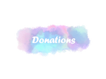 Donations - twitch banner / profile banner
