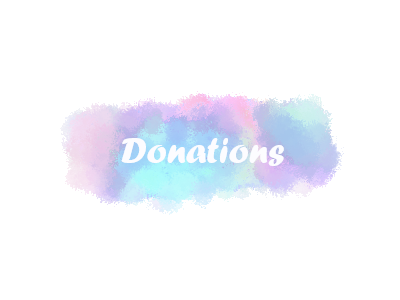 Donations - twitch banner / profile banner by MissAsuna on DeviantArt