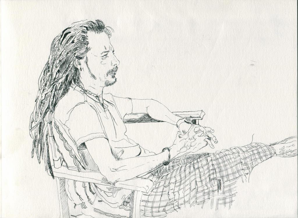Portrait of a friend by Nikrstic