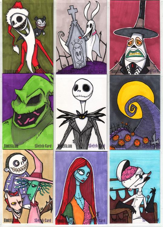 NMBC Sketch Cards by Bloodzilla-Billy