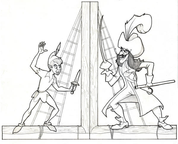 Peter Pan Book Ends by Bloodzilla-Billy