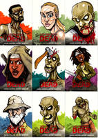 Walking Dead Sketch Cards Set 3 by Bloodzilla-Billy