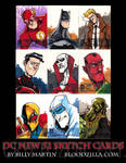 DC NEW 52 SKETCH CARDS 2