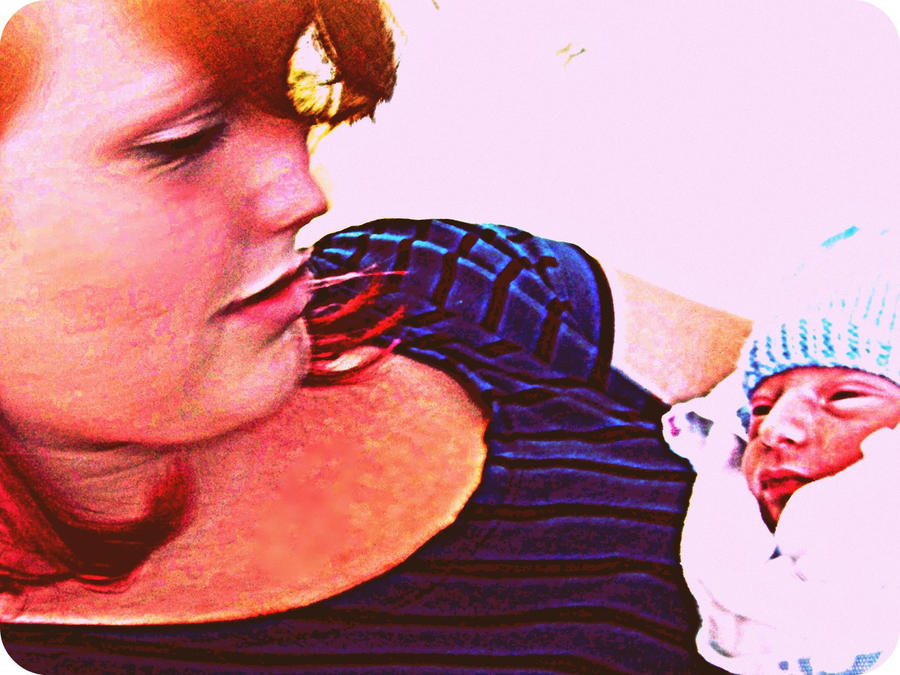 Me and baby Nick2 by Avey-Cee