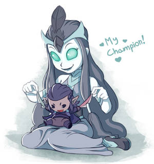 Raven Queen and Her Cute Champion