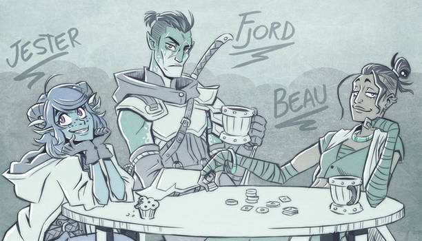 Critical Role - Fjord, Beau  and Jester