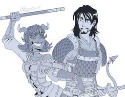Commission - Ronin  Layla by Takayuuki