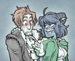 Critical Role - Jester flirting with Caleb by Takayuuki