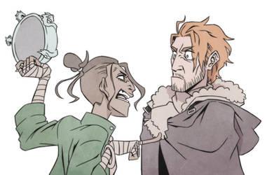 Critical Role - Beau scowls Caleb by Takayuuki