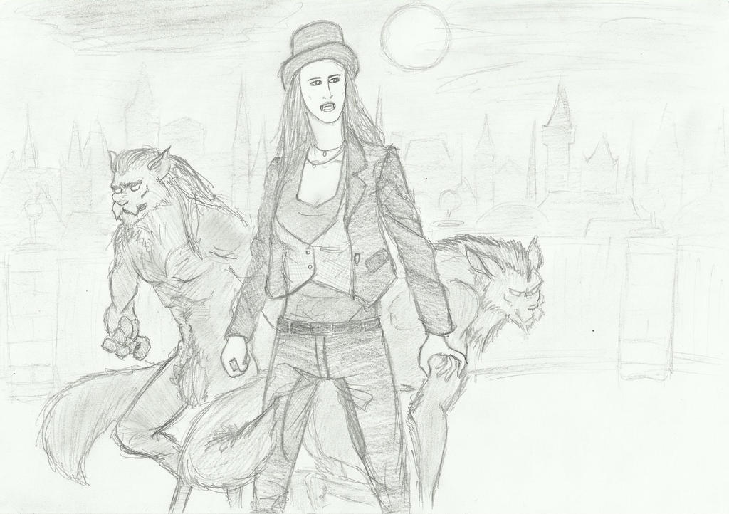 Lady Cornelia and her Guardians by DracoScatchmore