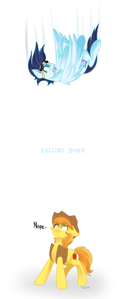 .MLP: Down, down, down. by Kikuri-Tan