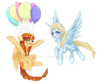 .My Frozen Pony: Royal balloons.