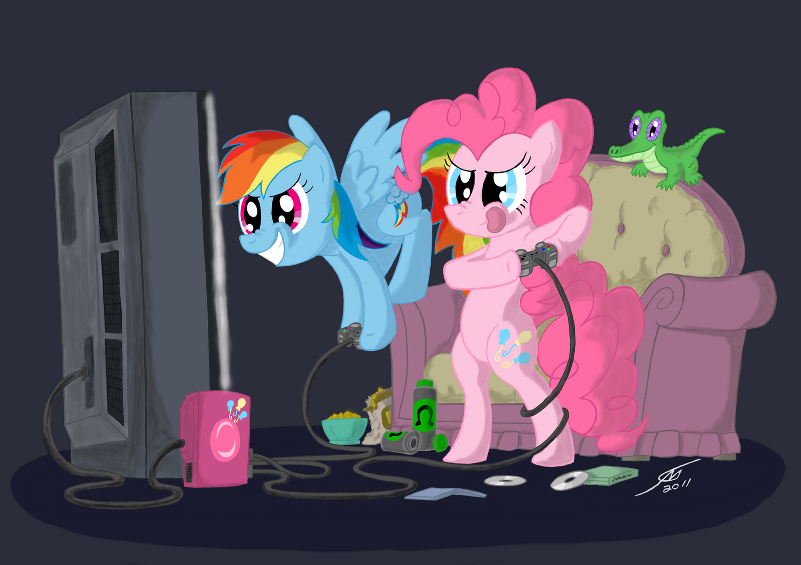 Pinkie Dash Playing Games by Template93 on DeviantArt
