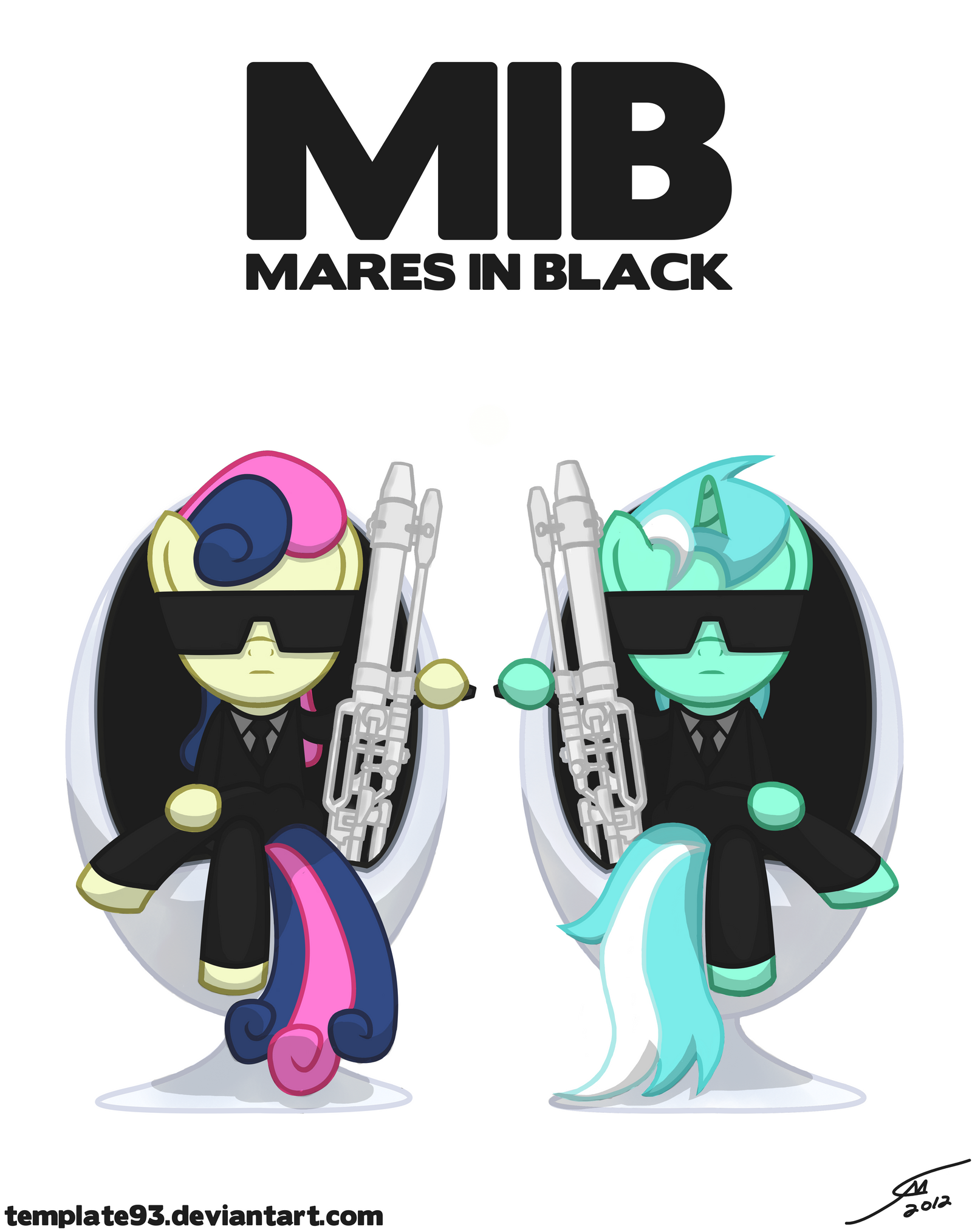 Mares In Black by Template93