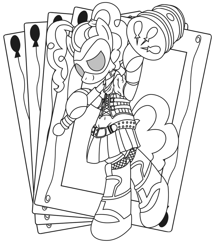 Pinkie Quinn (Line Art) by Template93