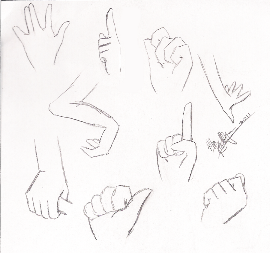 Hands Sketch Dump By Twin-Chan On DeviantArt