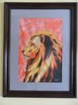 Rare lion profile