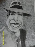 Carlos Gardel cartoon by Ezequielmercado