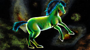 Green Cosmo Horse - Squiel