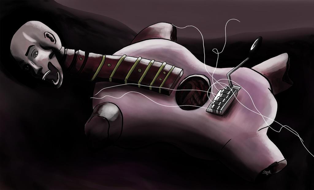 Guitar corpse by Ezequielmercado