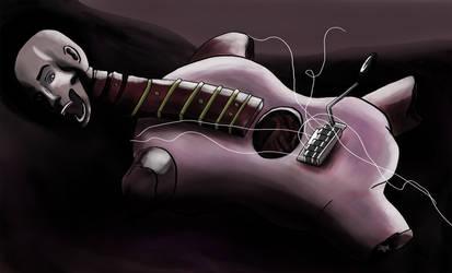 Guitar corpse