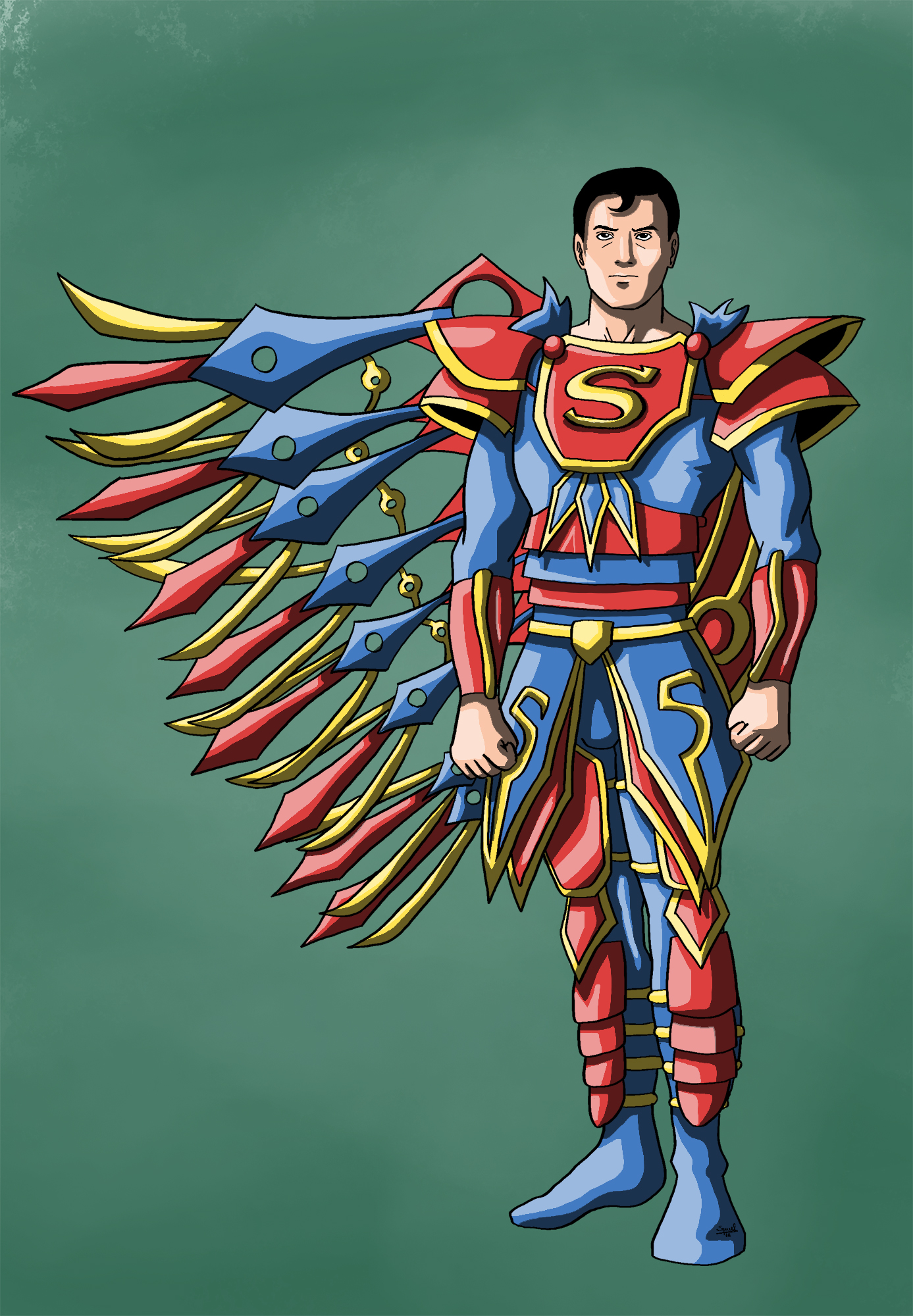 Superman's new suit by Ezequielmercado