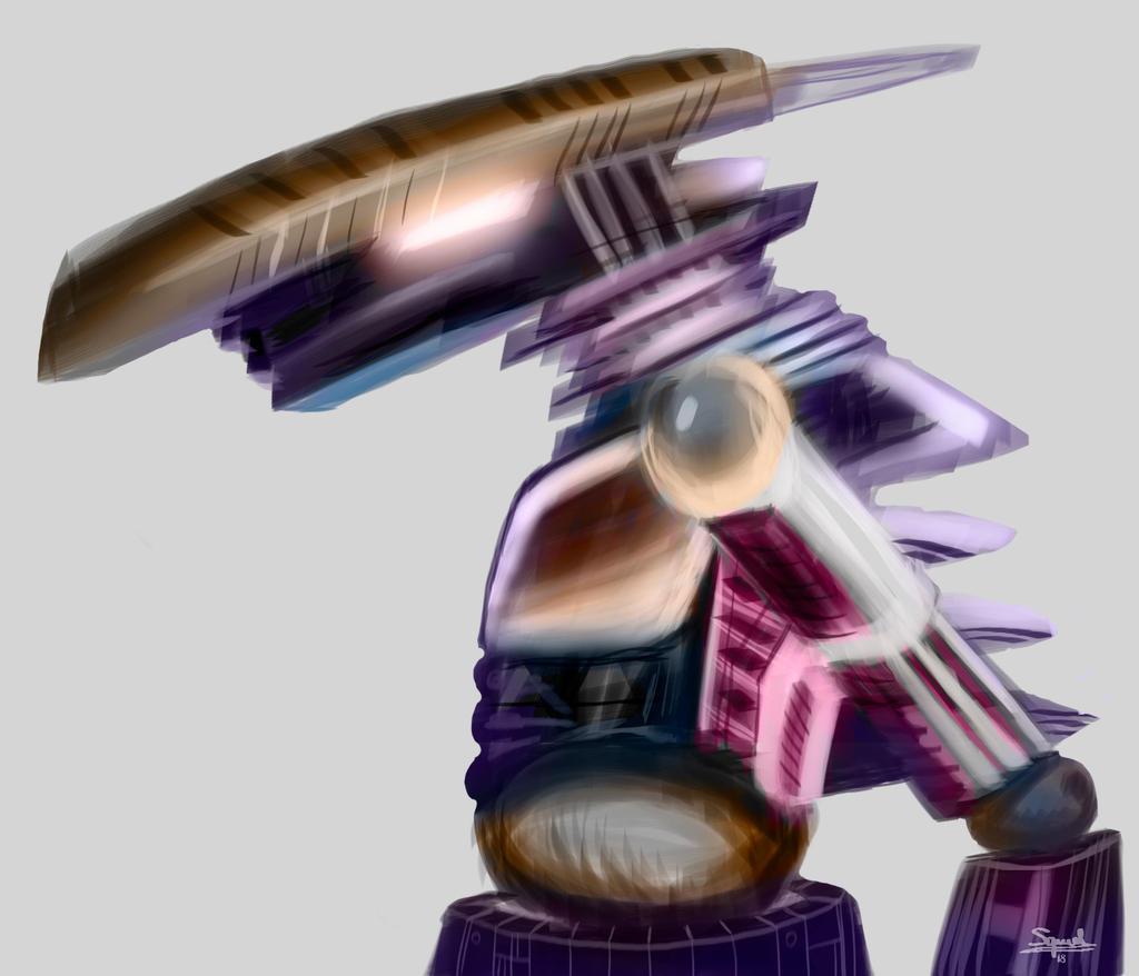 Evangelion-like robot by Ezequielmercado