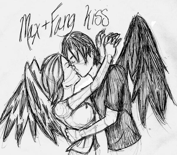 max and fang kiss by pearlwingz on deviantart