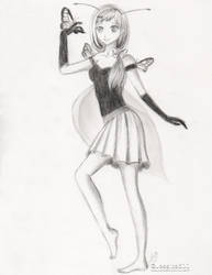 Butterfly Girl Sketch