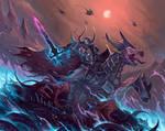 Champion of Tzeentch - Warhammer fanart