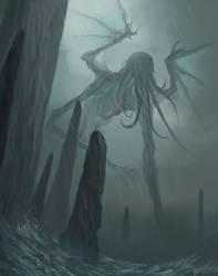 Cthulhu awake by MorkarDFC
