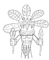 Chief Dancer Kachina Rough
