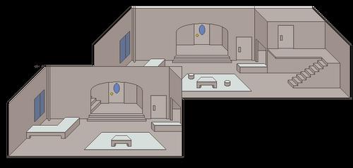 Grey City - Set Design for Star-Spangled Girl by ArbonGenre