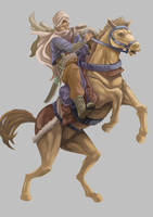 Horse Rider by Graphic--Ops