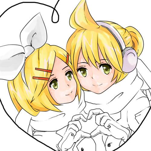 Kagamine twins by Ichigo-Kagamine