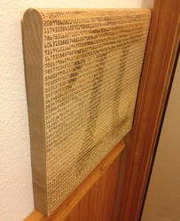 Pi test pyrography by Construc