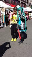 Dragon Festival! Miku and fans by roxaslawliet