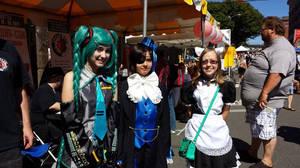 Dragon Festival! Miku, Ciel and the Fox Maid by roxaslawliet